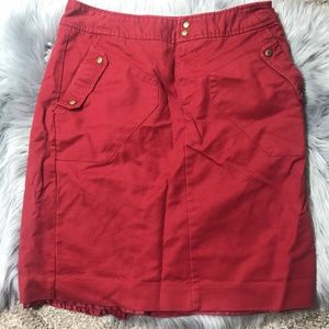Worthington red pencil skirt size 10